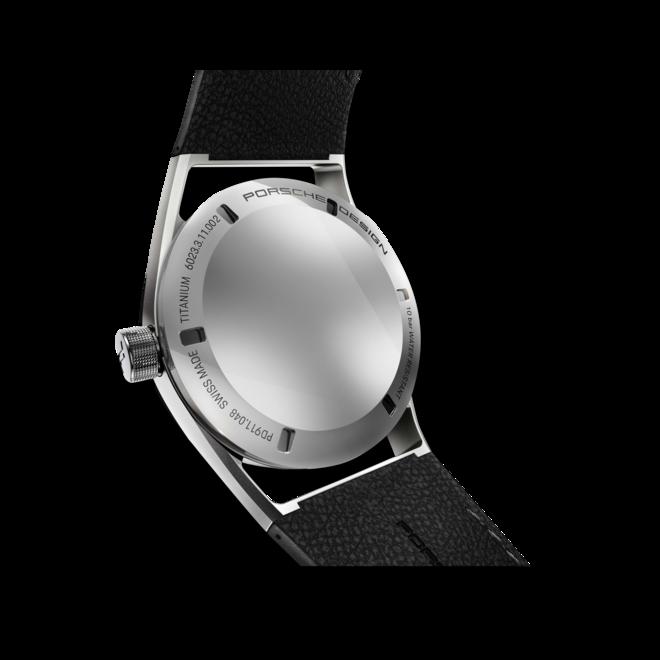 Herrenuhr Porsche Design Sport Chrono Subsecond 42mm mit schwarzem Zifferblatt und Kalbsleder-Armband bei Brogle