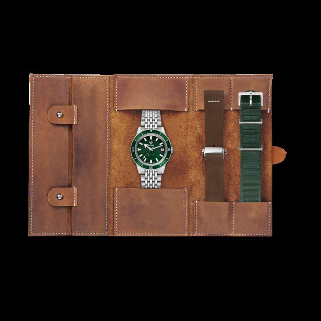 Damenuhr Rado Captain Cook Automatic 37mm mit grünem Zifferblatt und Edelstahlarmband bei Brogle