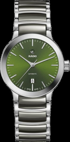 Damenuhr Rado Centrix Automatic 28mm mit grünem Zifferblatt und Edelstahlarmband
