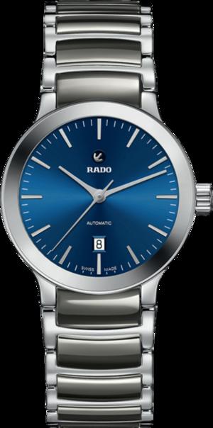 Damenuhr Rado Centrix Automatik 28mm mit blauem Zifferblatt und Edelstahlarmband