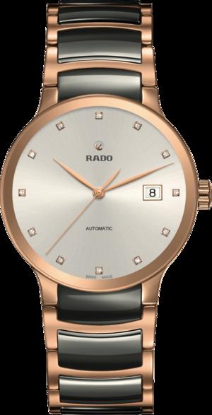 Damenuhr Rado Centrix Automatik 38mm mit Diamanten, silberfarbenem Zifferblatt und Edelstahlarmband