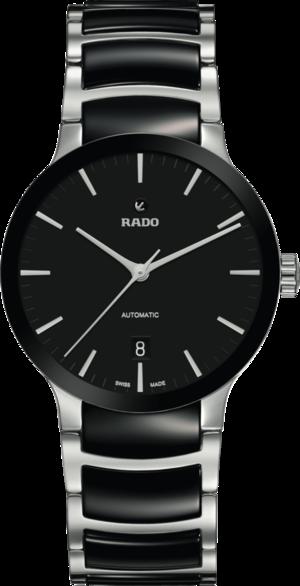 Damenuhr Rado Centrix Automatik 38mm mit schwarzem Zifferblatt und Edelstahlarmband