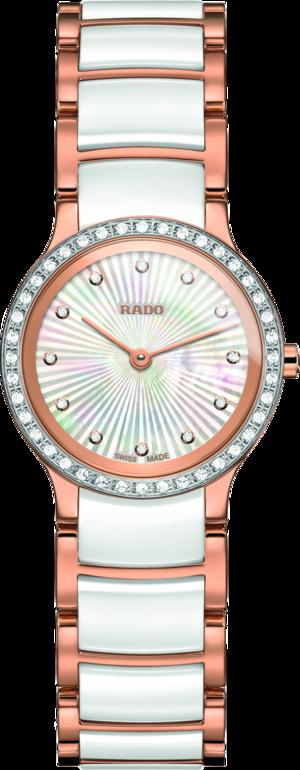 Damenuhr Rado Centrix Diamonds XS Quarz mit Diamanten, mehrfarbigem Zifferblatt und Edelstahlarmband