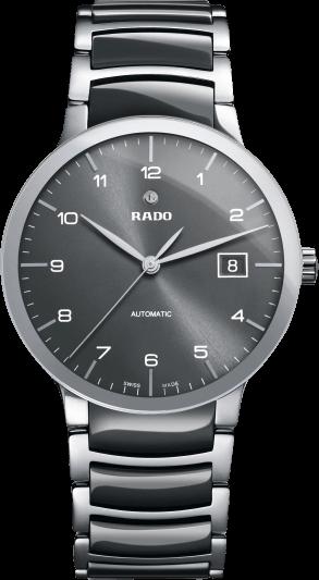 Herrenuhr Rado Centrix L Automatik mit schwarzem Zifferblatt und Edelstahlarmband