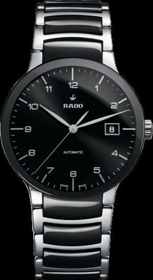 Armbanduhr Rado Centrix L Automatik mit schwarzem Zifferblatt und Edelstahlarmband