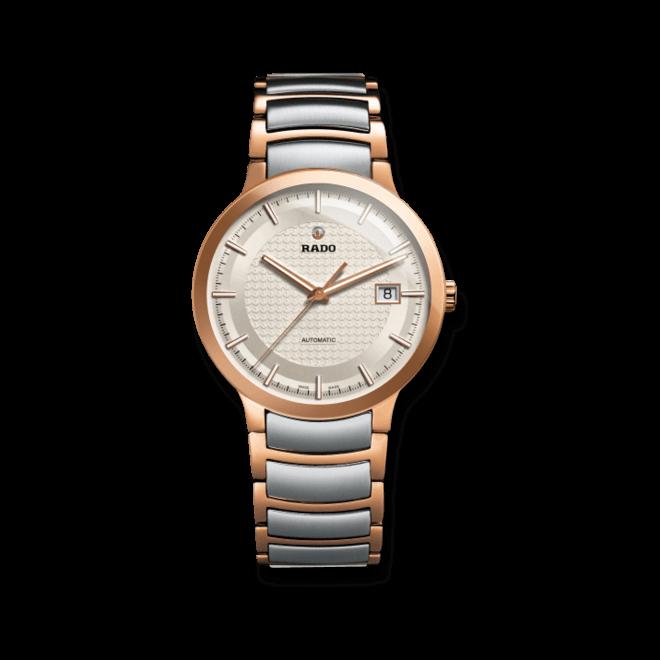Armbanduhr Rado Centrix L Automatik mit weißem Zifferblatt und Edelstahlarmband bei Brogle