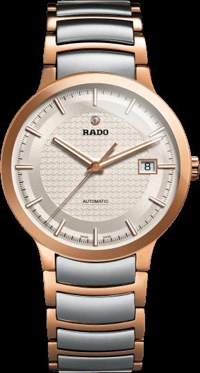 Armbanduhr Rado Centrix L Automatik mit weißem Zifferblatt und Edelstahlarmband