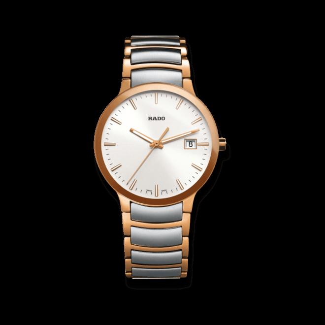 Armbanduhr Rado Centrix L Quarz mit weißem Zifferblatt und Edelstahlarmband bei Brogle