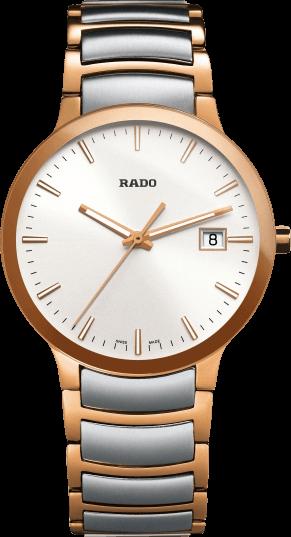 Armbanduhr Rado Centrix L Quarz mit weißem Zifferblatt und Edelstahlarmband