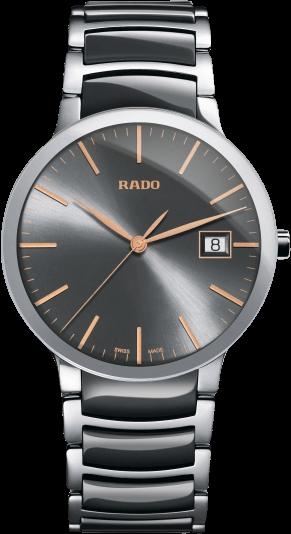 Armbanduhr Rado Centrix L Quarz mit grauem Zifferblatt und Edelstahlarmband