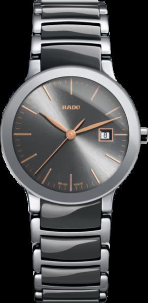 Damenuhr Rado Centrix S Quarz mit grauem Zifferblatt und Edelstahlarmband