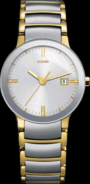 Damenuhr Rado Centrix S Quarz mit silberfarbenem Zifferblatt und Edelstahlarmband