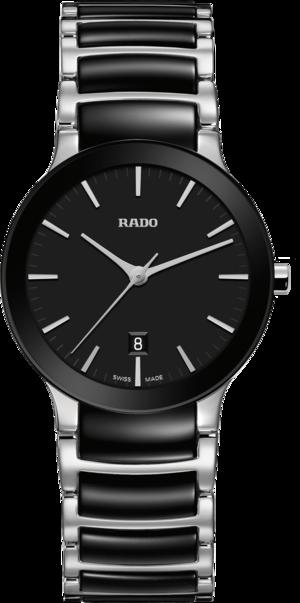 Damenuhr Rado Centrix S Quarz mit schwarzem Zifferblatt und Edelstahlarmband