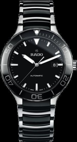 Herrenuhr Rado Centrix XL Sport Automatik mit schwarzem Zifferblatt und Edelstahlarmband