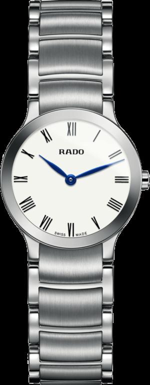 Damenuhr Rado Centrix XS Quarz mit weißem Zifferblatt und Edelstahlarmband
