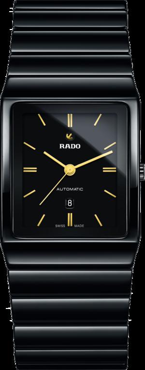 Herrenuhr Rado Ceramica L Automatik mit schwarzem Zifferblatt und Keramikarmband