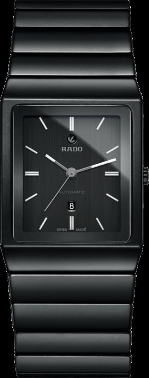 Armbanduhr Rado Ceramica L Automatik mit schwarzem Zifferblatt und Keramikarmband