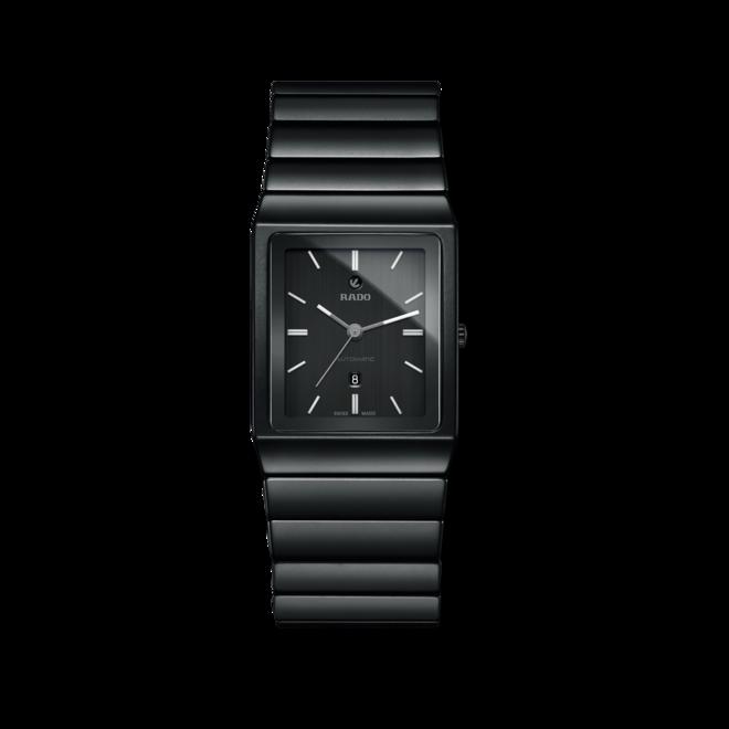 Armbanduhr Rado Ceramica L Automatik mit schwarzem Zifferblatt und Keramikarmband bei Brogle