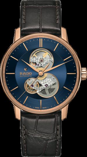 Herrenuhr Rado Coupole Classic Automatic mit blauem Zifferblatt und Armband aus Kalbsleder mit Krokodilprägung