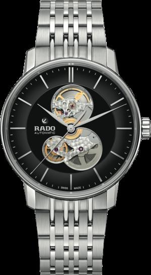 Herrenuhr Rado Coupole Classic Automatik mit schwarzem Zifferblatt und Edelstahlarmband
