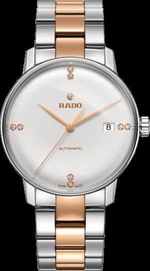 Herrenuhr Rado Coupole Classic Diamonds L Automatik mit Diamanten, weißem Zifferblatt und Edelstahlarmband
