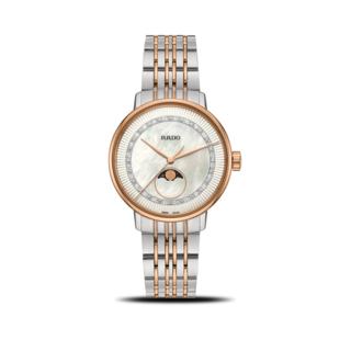 Rado Damenuhr Coupole Classic Diamonds Mondphase Quarz R22883953