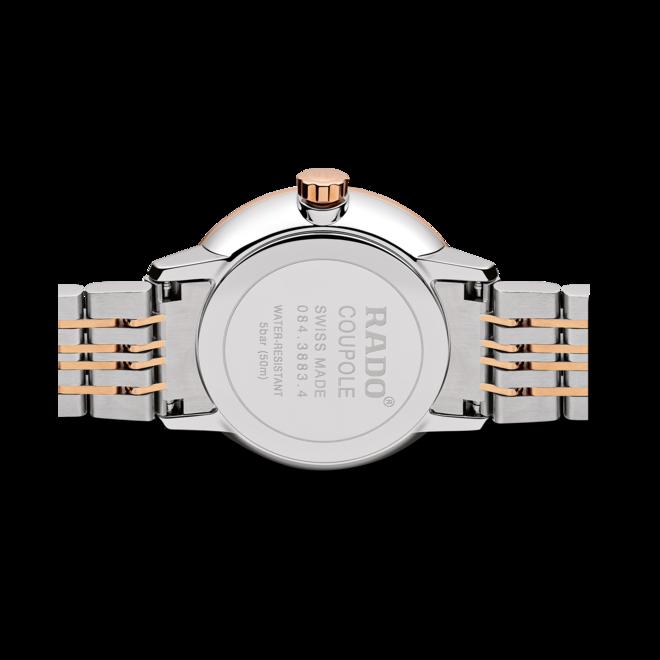 Damenuhr Rado Coupole Classic Diamonds Mondphase Quarz mit Diamanten, perlmuttfarbenem Zifferblatt und Edelstahlarmband bei Brogle