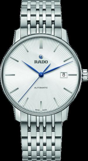 Herrenuhr Rado Coupole Classic L Automatik mit silberfarbenem Zifferblatt und Edelstahlarmband