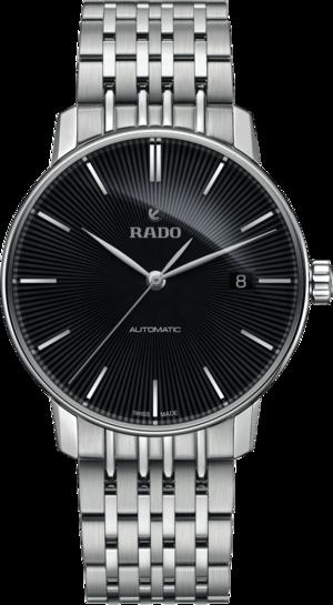 Herrenuhr Rado Coupole Classic L Automatik mit schwarzem Zifferblatt und Edelstahlarmband
