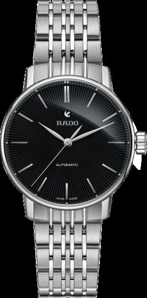 Damenuhr Rado Coupole Classic S Automatik mit schwarzem Zifferblatt und Edelstahlarmband