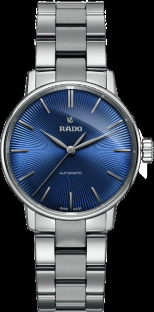 Damenuhr Rado Coupole Classic S Automatik mit blauem Zifferblatt und Edelstahlarmband