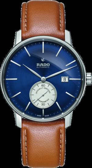 Herrenuhr Rado Coupole Classic XL Petite Seconde COSC mit blauem Zifferblatt und Kalbsleder-Armband