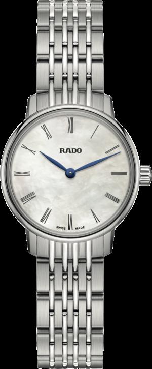 Damenuhr Rado Coupole Quarz 27mm mit perlmuttfarbenem Zifferblatt und Edelstahlarmband