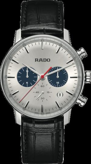 Herrenuhr Rado Coupole Quarz 42mm mit zweifarbigem Zifferblatt und Armband aus Kalbsleder mit Krokodilprägung