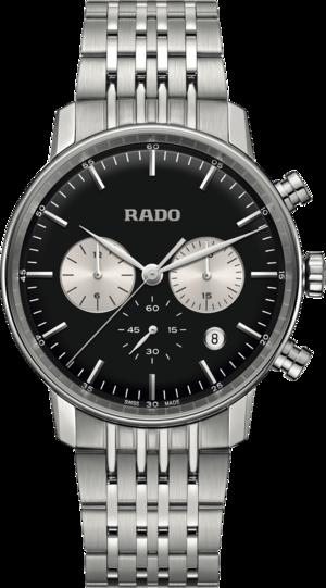 Herrenuhr Rado Coupole Quarz 42mm mit silberfarbenem/schwarzem Zifferblatt und Edelstahlarmband