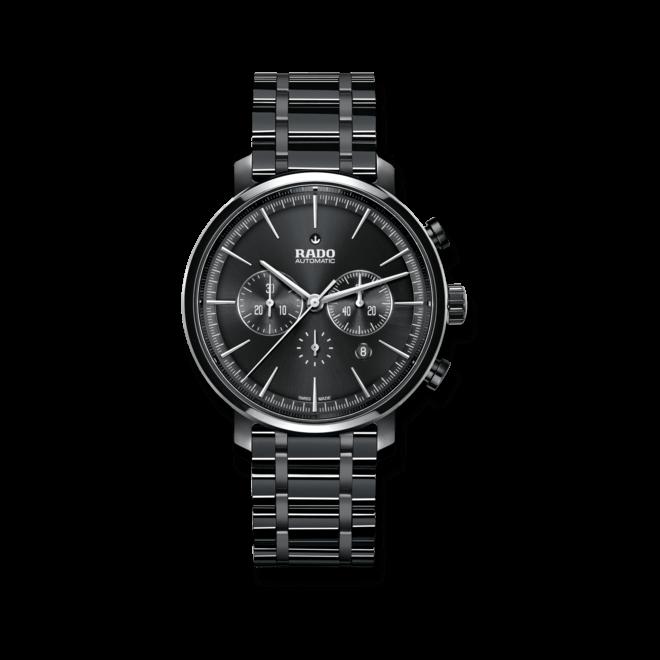 Herrenuhr Rado Diamaster Chronograph Automatik mit schwarzem Zifferblatt und Keramikarmband
