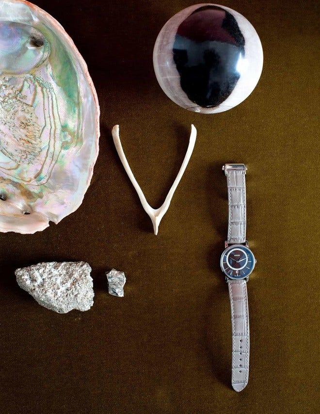 Damenuhr Rado DiaMaster Diamonds M Quarz mit Diamanten, braunem Zifferblatt und Armband aus Kalbsleder mit Krokodilprägung bei Brogle