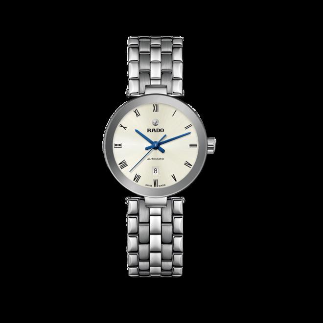 Armbanduhr Rado Florence Automatic mit silberfarbenem Zifferblatt und Edelstahlarmband bei Brogle