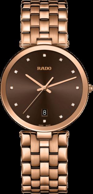 Herrenuhr Rado Diamonds Quartz mit Diamanten, braunem Zifferblatt und Edelstahlarmband