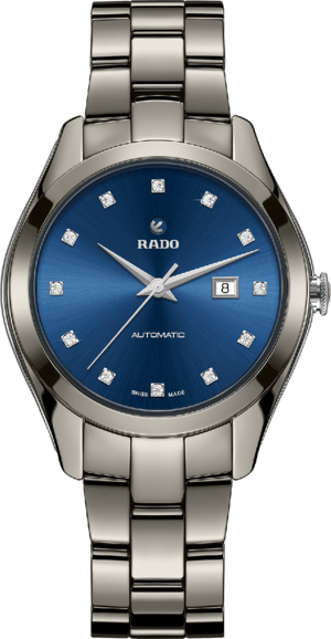 Herrenuhr Rado 1314 XL limited Edition mit Diamanten, blauem Zifferblatt und Keramikarmband
