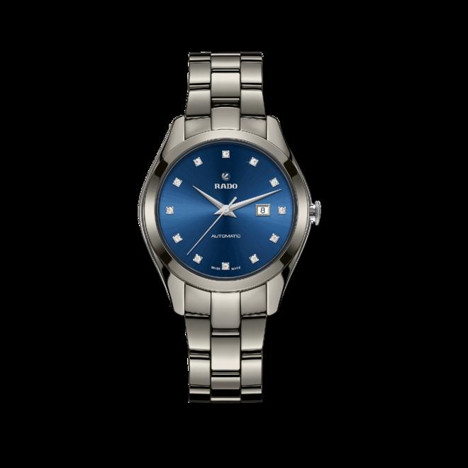Herrenuhr Rado 1314 XL limited Edition mit Diamanten, blauem Zifferblatt und Keramikarmband bei Brogle