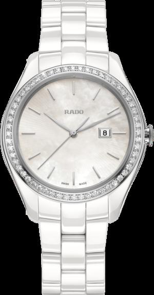 Damenuhr Rado HyperChrome Ash Barty, Limited Edition mit Diamanten, perlmuttfarbenem Zifferblatt und Plasma-Keramikarmband