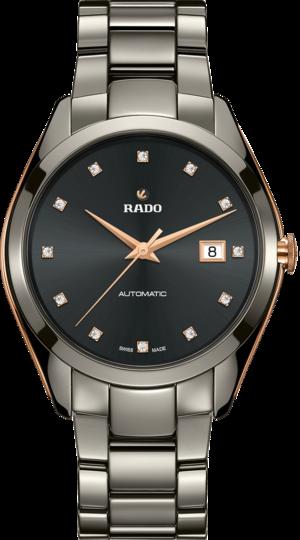 Herrenuhr Rado HyperChrome Automatik 1314 42mm mit Diamanten, grauem Zifferblatt und Plasma-Keramikarmband