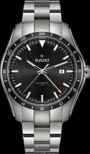 Herrenuhr Rado HyperChrome Automatik UTC mit schwarzem Zifferblatt und Edelstahlarmband