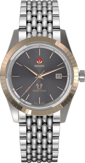 Herrenuhr Rado HyperChrome Classic mit grauem Zifferblatt und Edelstahlarmband