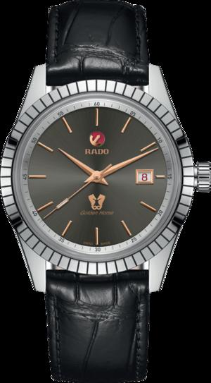 Herrenuhr Rado HyperChrome Classic mit grauem Zifferblatt und Armband aus Kalbsleder mit Krokodilprägung