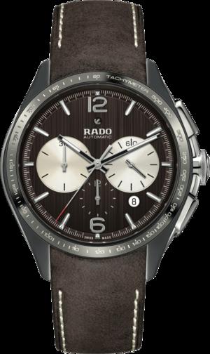 Herrenuhr Rado HyperChrome Tennis Automatik Chronograph mit braunem Zifferblatt und Kalbsleder-Armband