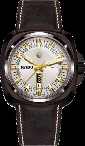 Herrenuhr Rado HyperChrome XL Automatik 1616 mit weißem Zifferblatt und Kalbsleder-Armband