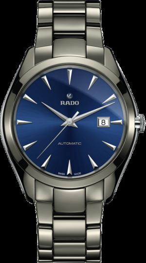 Herrenuhr Rado HyperChrome XL Automatik C07 mit blauem Zifferblatt und Armband aus Keramik mit Ceramos