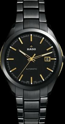 Herrenuhr Rado HyperChrome XL Automatik mit schwarzem Zifferblatt und Edelstahlarmband